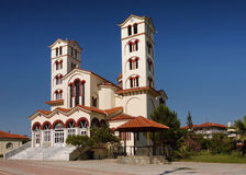 Nei Pori Church. Church, in the destination of Nei Pori in the periphery of Central Macedonia, Greece royalty free stock photo