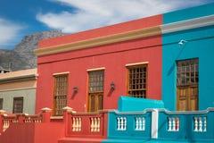 Neiborghood do kaap da BO em Cape Town, África do Sul Imagens de Stock Royalty Free