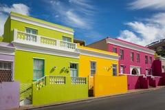 Neiborghood do kaap da BO em Cape Town, África do Sul Fotografia de Stock Royalty Free