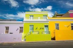 Neiborghood do kaap da BO em Cape Town, África do Sul Fotos de Stock