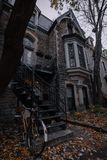 The neiborhood in Montreal stock photos