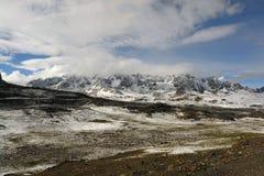 Neigé à Cusco image libre de droits
