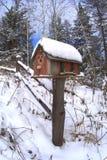 Neigé dans la boîte aux lettres Image libre de droits