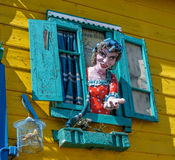 Neigborhood van La Boca, Buenos aires, Argentinië Royalty-vrije Stock Fotografie