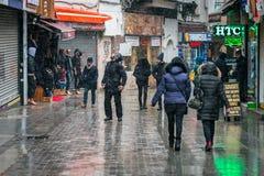 Neige à Istanbul, Turquie Photographie stock libre de droits