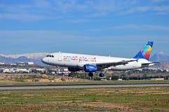Neige à l'aéroport d'Alicante Image stock