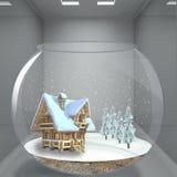neige à la maison Images stock