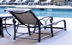 Neige à la piscine Photos libres de droits
