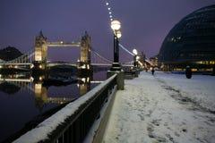 Neige à Londres Photo stock