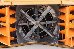 Neige-élimination de la machine, vue du mécanisme Images stock
