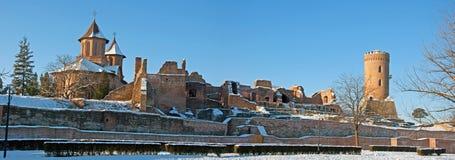 Neige au-dessus des ruines Images libres de droits