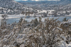 Neige au lac watson Image libre de droits
