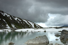 Neige au milieu d'été Photographie stock