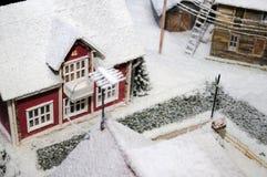 neige couverte de maison Photo libre de droits