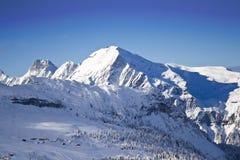 neige couverte de montagne Images stock
