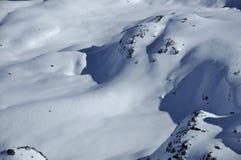 neige couverte de montagne de glacier Photographie stock libre de droits
