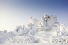 Neige découpée. Photo libre de droits