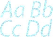 neige d'alphabet illustration stock