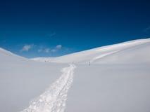 Neige d'avalanche image libre de droits