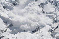 neige d'avalanche Photo libre de droits