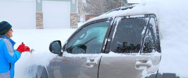 Neige d'hiver. Images libres de droits