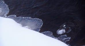 Neige d'hiver Photos libres de droits