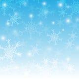 Neige dans la conception d'hiver illustration de vecteur