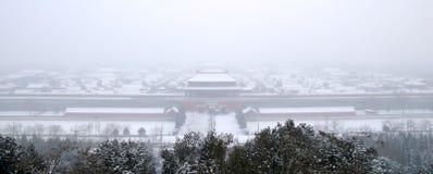 Neige dans le musée de palais Photographie stock libre de droits