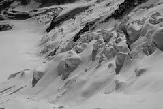 Neige dans les Alpes Photos libres de droits