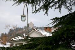 Neige dans Sinj, Croatie photos stock