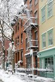 Neige de Brooklyn Photographie stock