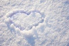 neige de coeur Photo libre de droits