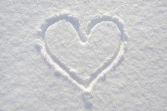 neige de coeur Photographie stock libre de droits