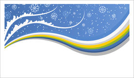 neige de fond Image stock