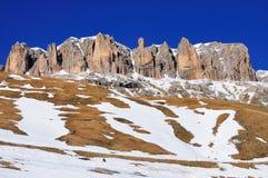 Neige de fonte, dolomites, Italie Image stock
