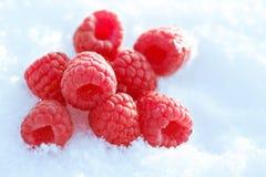neige de framboises Photo stock