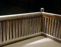 neige de frontière de sécurité Photo stock