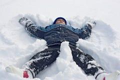 neige de garçon Photo libre de droits