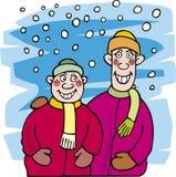 neige de gosse de frères illustration stock