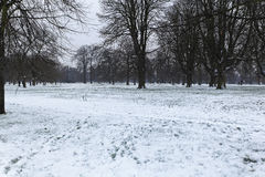 Neige de Hyde Park Photos stock