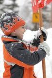 neige de jour Photos stock