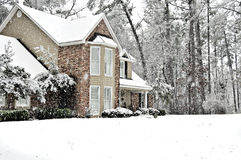 neige de jour Photographie stock