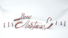 Neige de Joyeux Noël &candy Photographie stock
