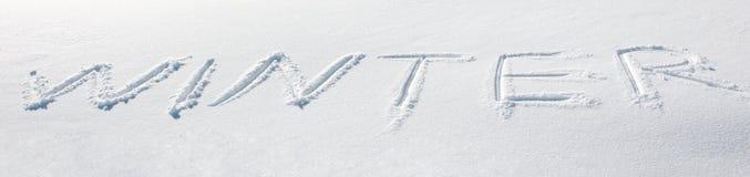 Neige de l'hiver Photographie stock libre de droits