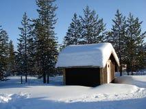 Neige de la Laponie Photographie stock