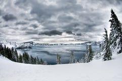 Neige de lac crater Image libre de droits