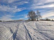 Neige de mélange de ciel Photographie stock libre de droits