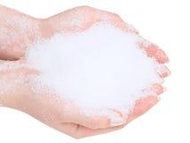 neige de mains photo libre de droits