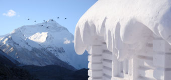 neige de maison Images libres de droits
