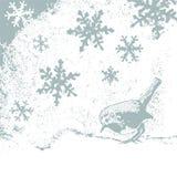neige de merle illustration libre de droits